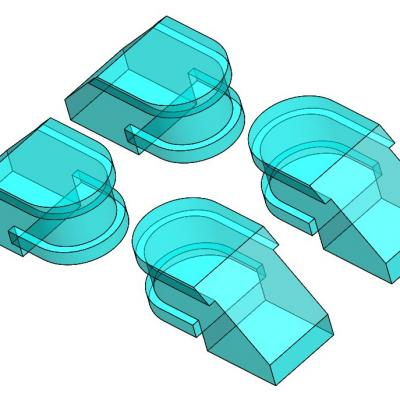 KAC006-5 - Clips de caisse pour kit de CC6505 / CC21004 et CC72001