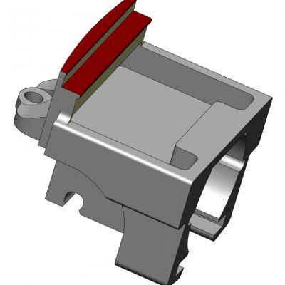 KAC039-3  Pièce support AV de moteur Draisine
