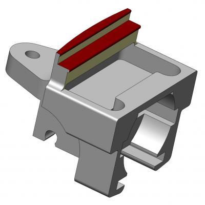 KAC039-4 Pièce support AR de moteur Draisine