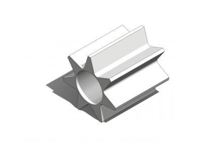 KAM009 - Pignon 9 Dents renforcé, axe Ø2mm, module 0,5