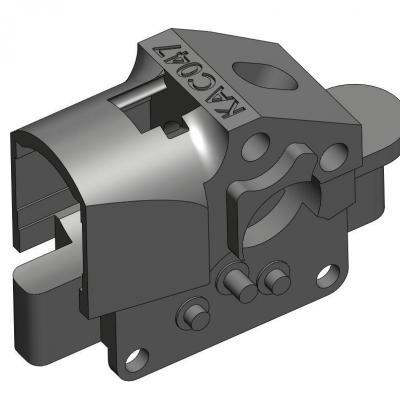 KAC047-1 Pièce support moteur pour BB VESPA LIMA