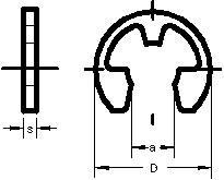 KAM040 - Circlips pour axe vertical de bogie JOUEF