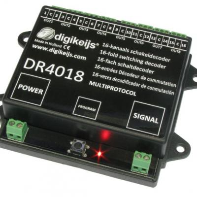 DR4018 - Décodeur accessoires 16 sorties / 8 aiguillages