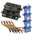 DR4024_BOX - Ensemble complet décodeur servos et 4 servos