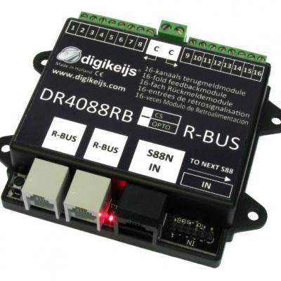 DR4088RB-CS - Rétrosignalisation, 16 entrées, R-BUS