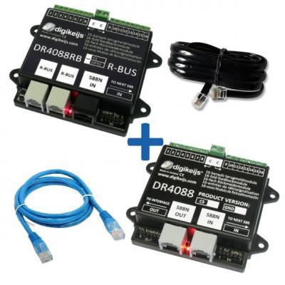 DR4088RBCS_BOX - Rétrosignalisation, ensemble complet 32 entrées, R-BUS / S88N