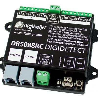 DR5088RC - Rétrosignalisation 16 entrées RAILCOM via LocoNet