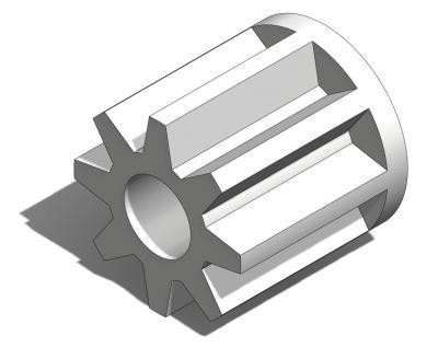KAM018 - Pignon 8 dents pour axe Ø1,5mm